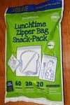 Lunch time zipper bags Red