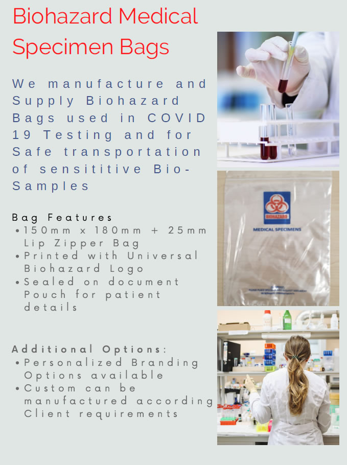 Biohazard Specimen Transport Bags